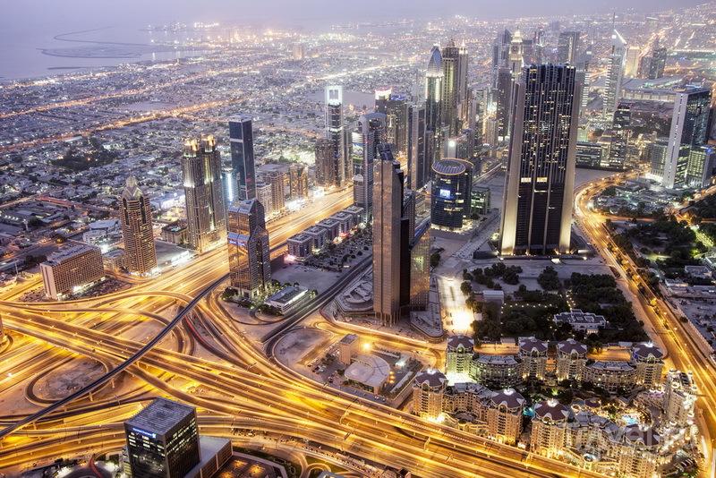 Дубай ночной город