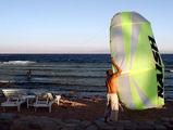 кайт-серфер на старте / Фото из Египта