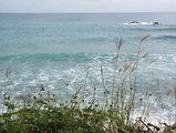 Карибское море в смурную погоду / Фото из Доминиканской Республики