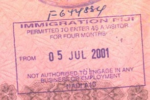 Визы на Фиджи - въездная виза