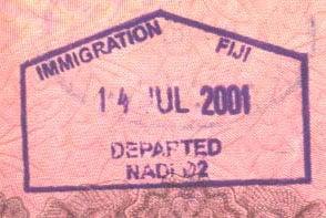 Визы на Фиджи - выездная виза