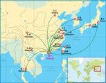 Карта маршрутов / Макао (Аомынь)