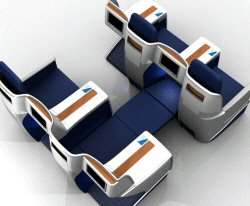 Класс бизнес-элит в самолёте Boeing 767-400 / США