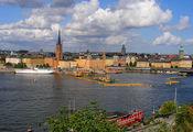 Живописный вид на центр Стокгольма