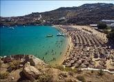 Пляж Super Paradise на острове Миконос