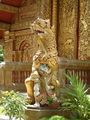 Скульптура при входе Ват Махаван / Фото из Лаоса
