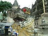 Храмовый лев, Ват Четаван / Фото из Лаоса