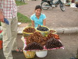 Камбоджийские лакомства:  сверчки, пауки / Фото из Камбоджи