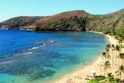 Живописный пляж на Гавайях
