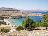 Пляж на средиземноморской стороне. Линдос / Фото из Греции