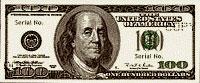 USA$100 аверс, Бенджамин Франклин