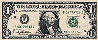 USA$1 аверс, Джордж Вашингтон