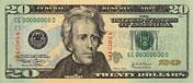 USA$20 аверс, Эндрю Джексон, 2003