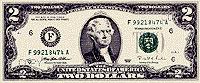 USA$2 аверс, Томас Джефферсон
