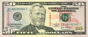 USA$50 аверс, Улисс Грант, 2004