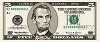 USA$5 аверс, Авраам Линкольн