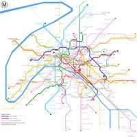 Схема метро в Париже.