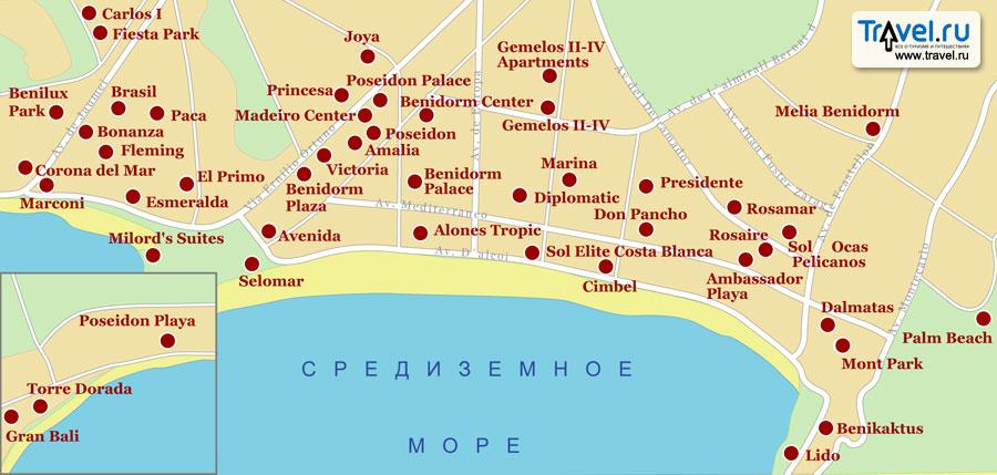 Подробная карта дорог Израиля
