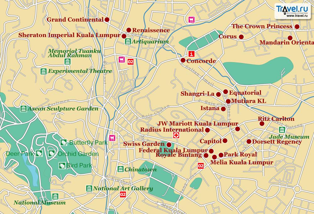 Карта куала лумпура