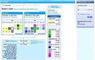 сайт KLM - цветовая шкала тарифов