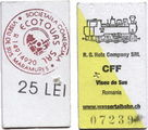 билетик за 25 лей / Румыния