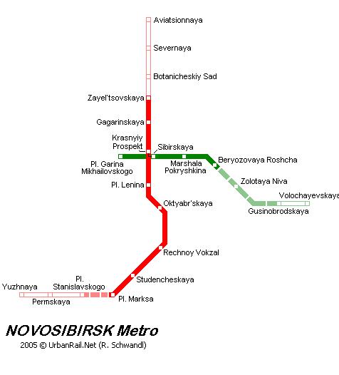Карта метро Новосибирск Россия Novosibirsk map.