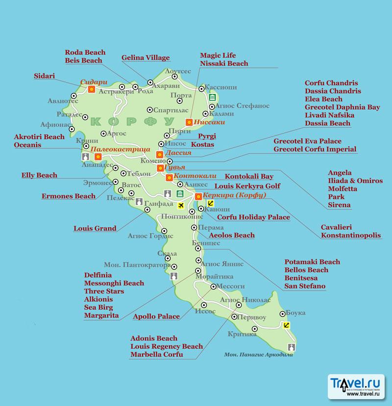 Greece,Corfu Maps.