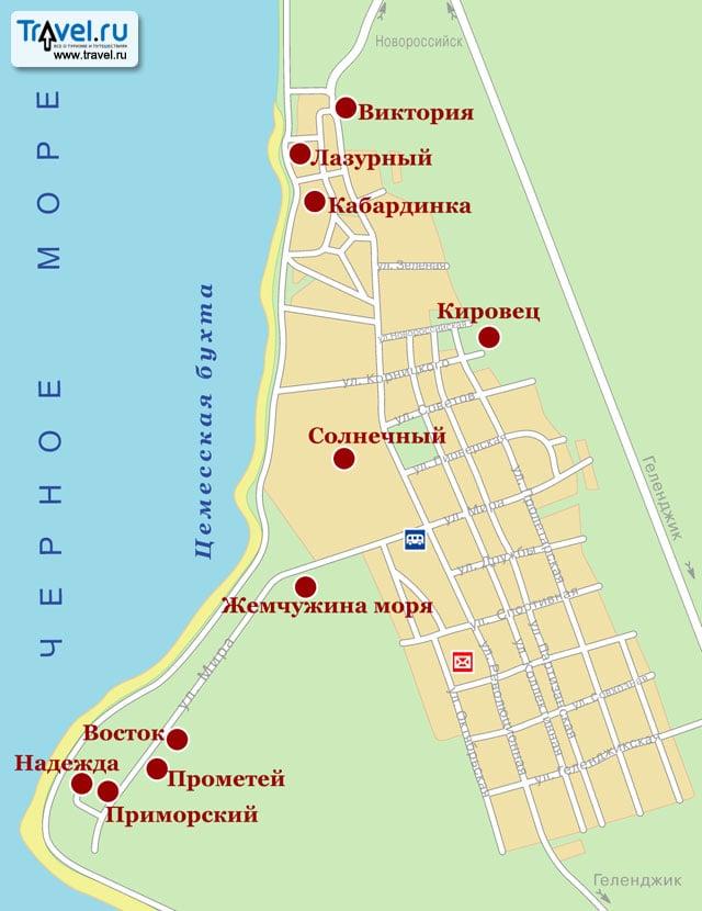 Карта курорта кабардинка