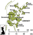оркнейские острова на карте британии / Великобритания