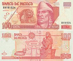 мексиканское песо, 100