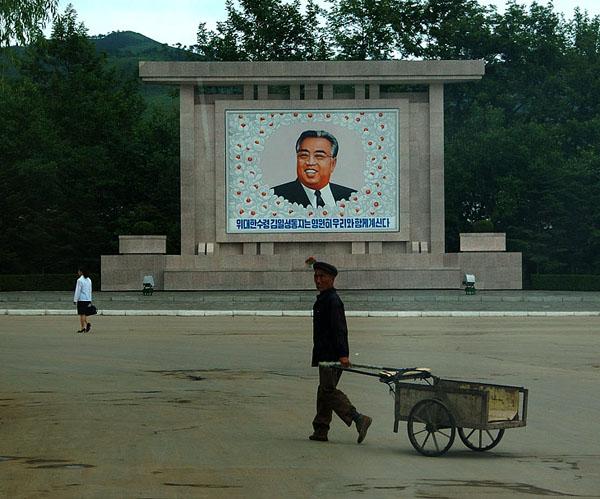 Портрет Ким Ир Сена / Фото из Северной Кореи