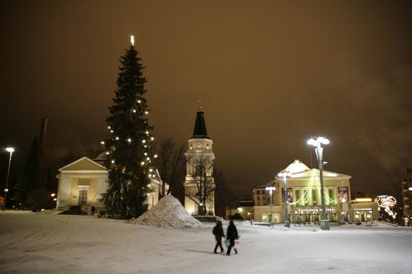 Главная городская ель / Фото из Финляндии