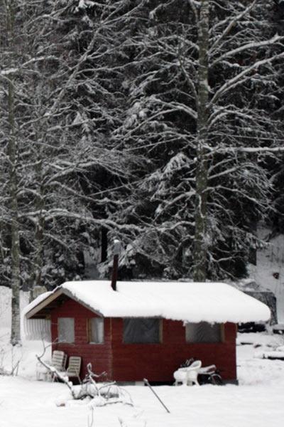 Кругом красные домики / Фото из Финляндии