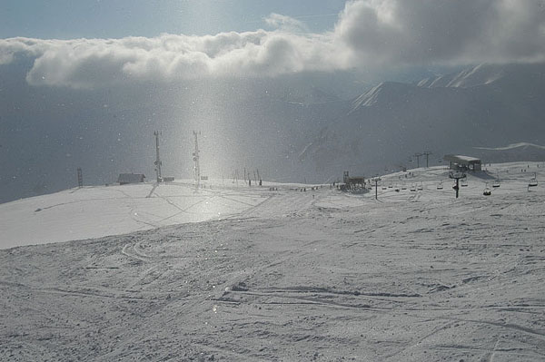 Идет легкий снег / Фото из Гpузии