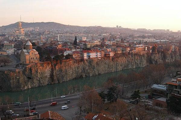 Вид с горы Мтацминда / Фото из Грузии