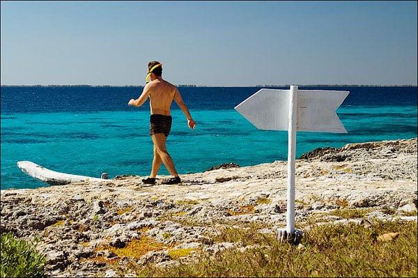 На пляже между Плая-Ларга и Плая-Хирон / Фото с Кубы