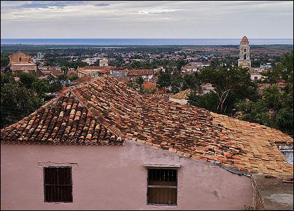 Вид на Тринидад с холма / Фото с Кубы