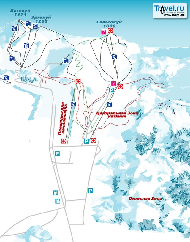 Схема трасс в ябули