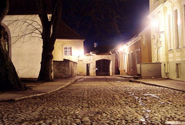 Ночная улочка у Домского собора / Фото из Эстонии
