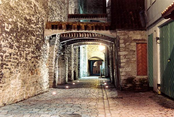 У стен церкви Святой Катарины / Фото из Эстонии