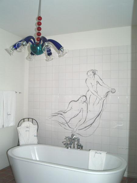 Дизайнерская ванная комната в Park Hotel Weggis / Фото из Швейцарии