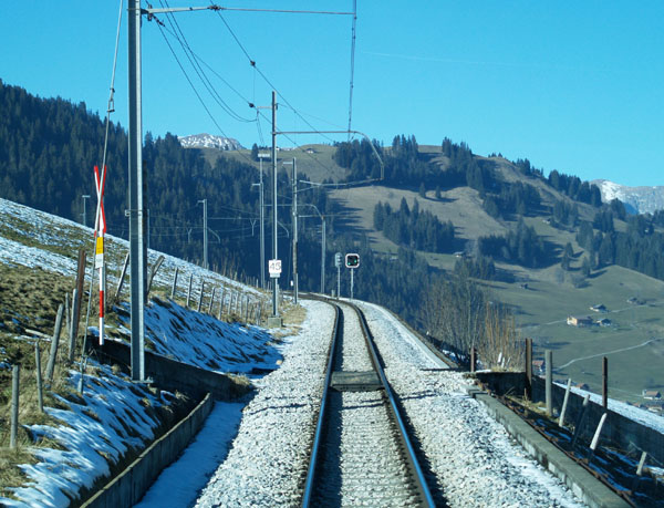 Golden Pass: вид с пассажирского места / Фото из Швейцарии