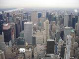 вид на Манхеттен с Эмпаэр стэйт Билдинг / США