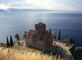 Поградец, церковь на берегу Охридского озера