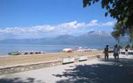 Поградец, берег Охридского озера