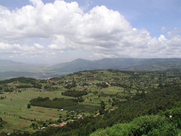 Вид на Кению с высоты птичьего полета / Фото из Кении