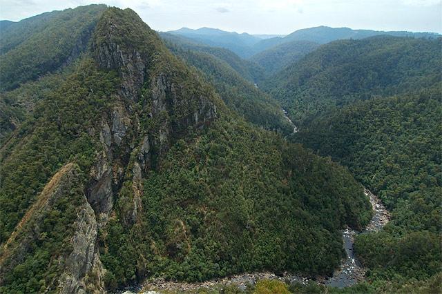 Вид на Leven Canyon / Фото из Австралии