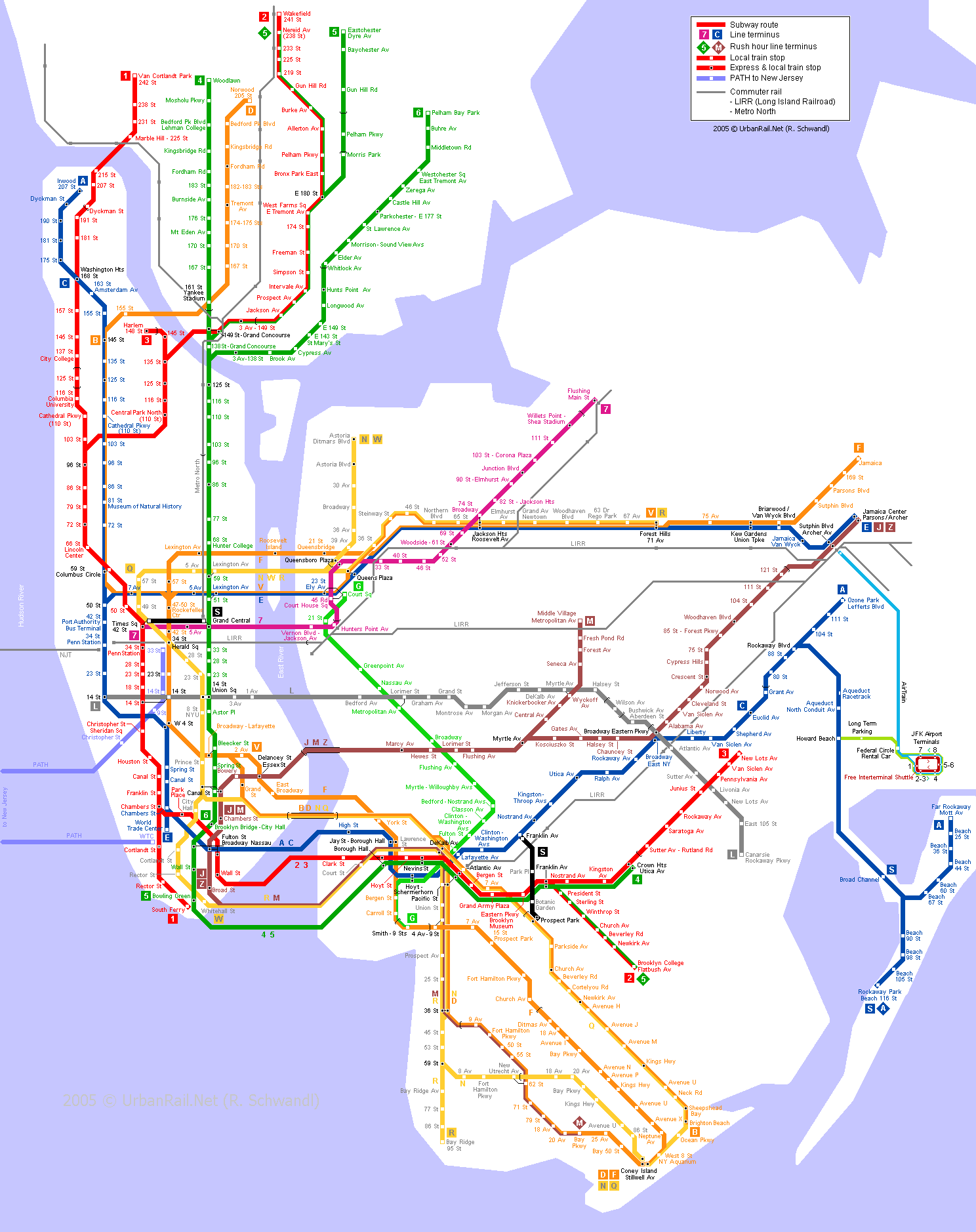 Map of New York City Subway.