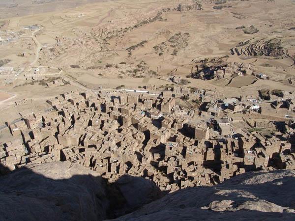 Вид на город с высоты / Фото из Йемена