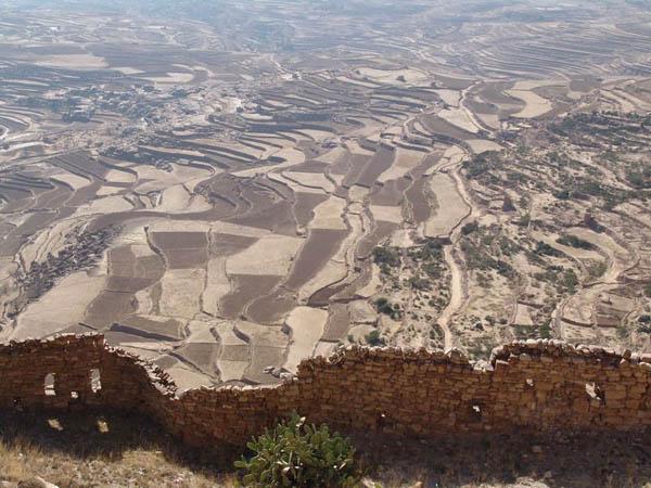 Бесконечные террасные поля / Фото из Йемена